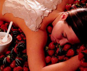 Strawberry massage pampering